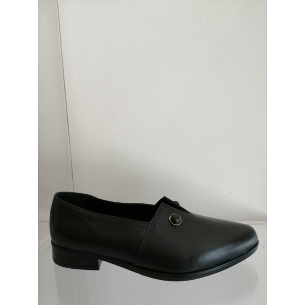 Loafers δερμάτινα μαύρα